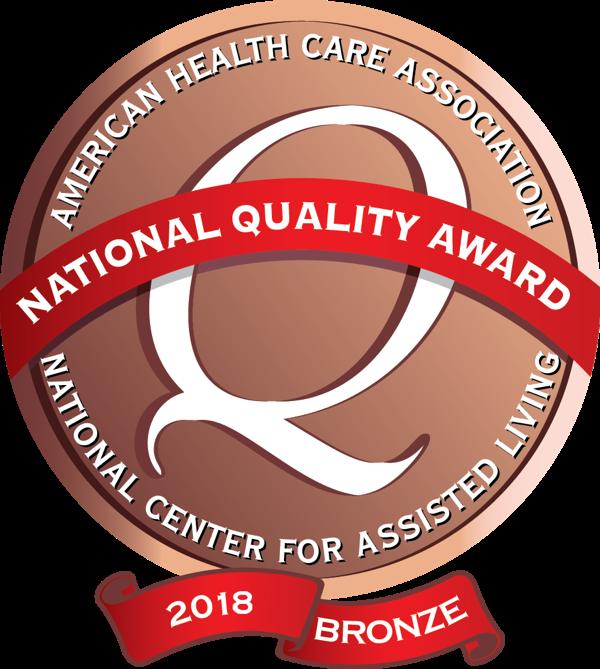 assisted living bronze award